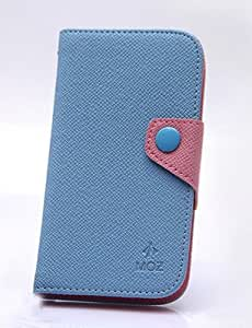Kolorfish iMini Business Wallet Leather Flip Stand Case Cover for Samsung Galaxy S4 Blue