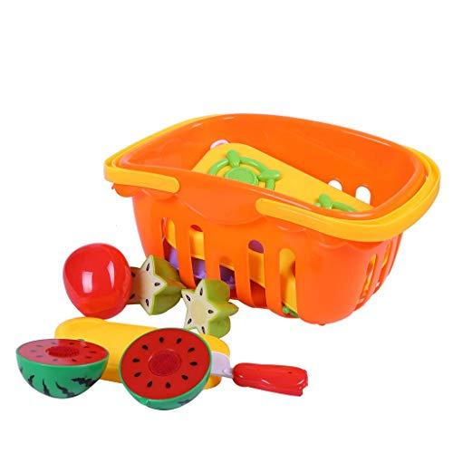 Plüsch Bildung Squishy Spielzeug aufblasbares Spielzeug im Freien Spielzeug,Kinder Kunststoff Obst Gemüse Schneiden Spielzeug Set Pädagogisches Spielzeug Für Kinder Geschenk ()