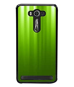 PrintVisa Plain Green High Gloss Designer Back Case Cover for Asus Zenfone Selfie ZD551KL