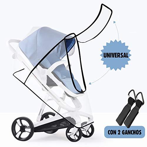 O³ Lola Kids Burbuja Lluvia Universal Silla Paseo Con 2x Gancho Carrito Bebe - Protector De Lluvia...