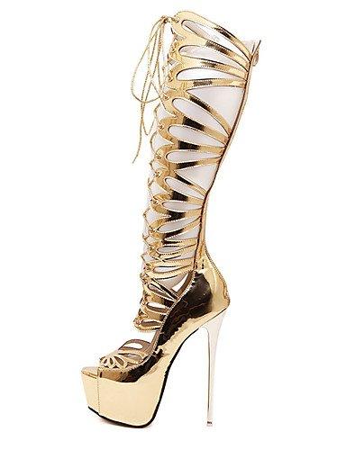 WSS 2016 Chaussures Femme-Décontracté-Or-Talon Aiguille-Talons-Chaussures à Talons-Polyuréthane golden-us8 / eu39 / uk6 / cn39