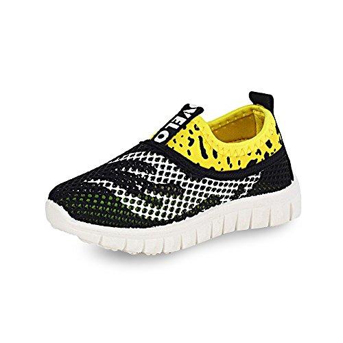 Unisex Slip On Wasser Schuhe Mesh Sneaker Trainers für Kinder Männer Frauen KODOO (9 child UK, Schwarz) (Sneakers-männer-größe 9)