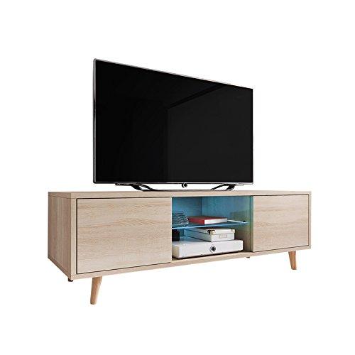 TV Meuble Rivano LED Bleu (chêne)