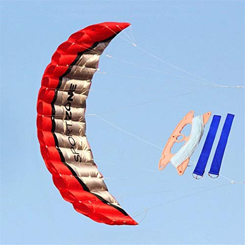 Profesional y único Regalos de 2,5 m de línea doble paracaídas Kite Beach Software Parapente Stunt kitesurf deporte al aire libre de nylon cometas juguetes for adultos de vacaciones ( Color : Red )