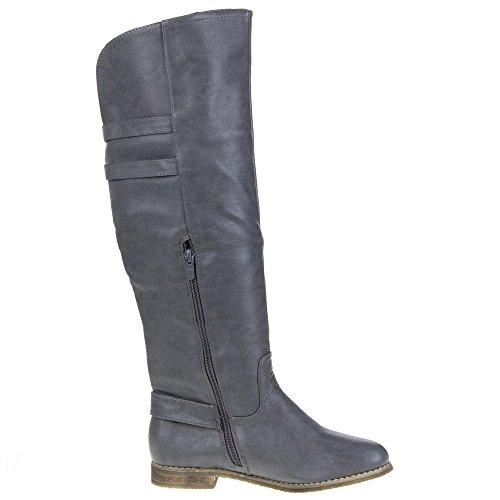 Ital-Design mt209de bottes pour femmes Gray - Grau MT209