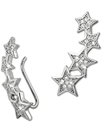 SilberDream Ear Cuff  Etoiles - Zircons - Boucles d'oreilles - Manchette d'oreille - Argent 925 - GSO411W