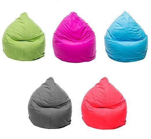 Tazado Top XL Sitzsack 220 Liter mit Reißverschluss in Verschiedenen Trendfarben. Separater Innensack Bean-Bag. (hellgrün)