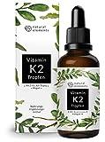 Vitamin K2 MK-7 Tropfen 200µg - 50ml - Höchster All-Trans Gehalt (100%) - Premium: K2VITAL von Kappa - Laborgeprüft, vegan, hochdosiert, und hergestellt in Deutschland