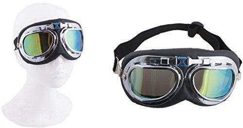 mpunk Brille Schweisser Brille Schutzbrille Kostüm, Schwarz (Kind Mädchen, Nerd Halloween-kostüme)