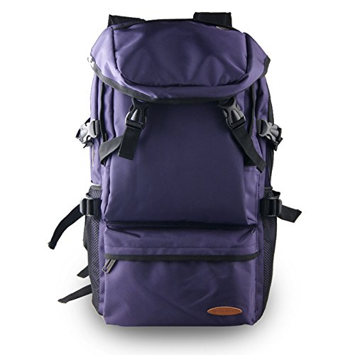 TBB-Borse da viaggio di grande capacità alpinismo zaino borsa all'aperto,grande blu Purple Large