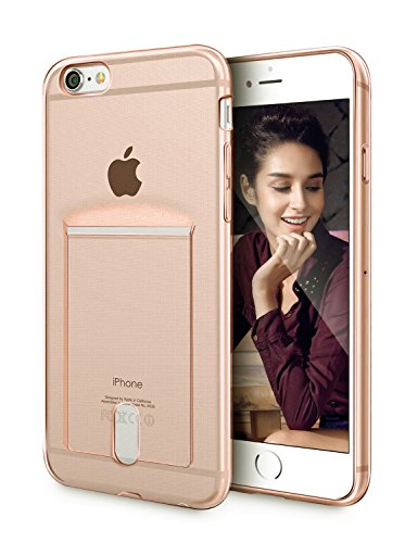 iPhone 6S Plus Hülle, weiche TPU Gel Cover, fogeek klar TPU Kartenschlitz Slim Case Cover, stoßfest für iPhone 6S Plus/6PLUS Transparent Gold