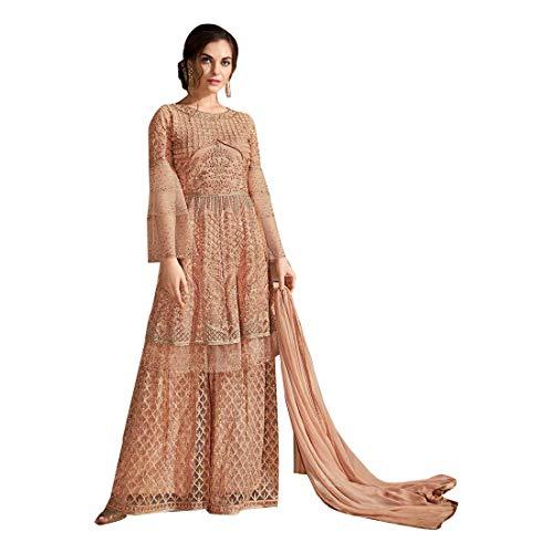 New Eid Collection Indische muslimische Braut pakistanische Bollywood Anarkali Salwar Kameez bereit, Designer Boden Touch Net schwere Stickerei 7887 zu tragen Super Net Saree