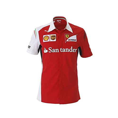 Puma Ferrari SF Team Shirt Men, Ferrari Formel1 Herren Hemd Alonso rot, S -