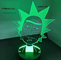 3D Led Night Light Rick And Morty Para Niños Dormitorio Luz Decorativa Cool Child Nightlight Gift Color Changing Room Lamp