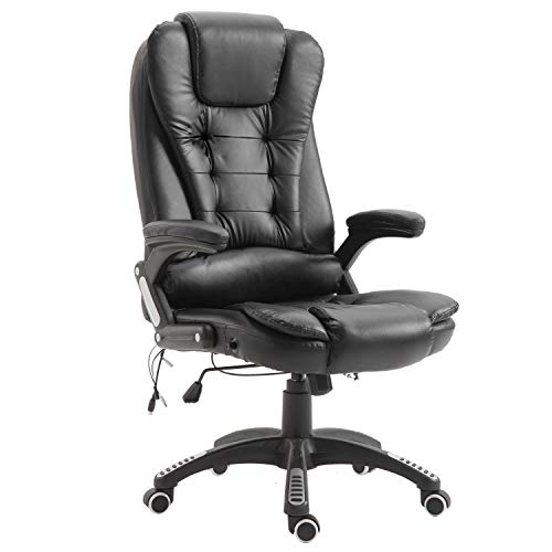 UISEBRT Bürostuhl Chefsessel Drehstuhl Höhenverstellbarer - 360°Drehstuhl Gamingstuhl mit massagefunktion - Ergonomisches Design Bürostuhl bis 150kg belastbar,Schwarz