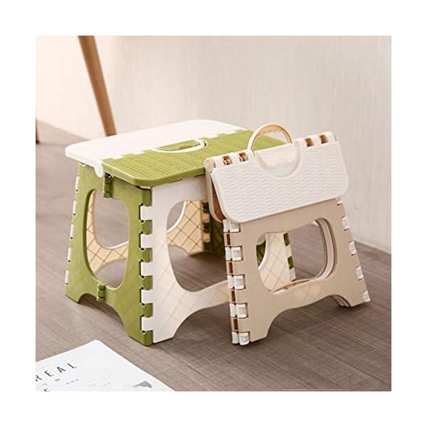 RoadRoma Diseño portátil de la manija Silla Plegable Duradera para Acampar Silla de Pesca (Beige) 4
