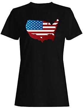 Nuevo Voto America Background Usa camiseta de las mujeres h420f