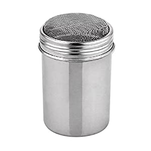 Bluelans Stainless Steel Chocolate Shaker Flour Powder Icing Sugar Coffee Sifter + Lid