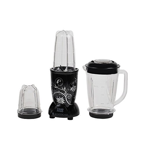 Wonderchef Nutri-Blend 400-Watt Juicer Mixer Grinder with Big Mixer Jar (Black)