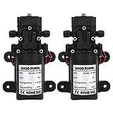 Hochdruck Membranpumpe, DC 12V / 24V 25W elektrische Wasserpumpe, 1,5-3L / m Selbstansaugende Membranwasserpumpe für Hochdruckreiniger, Wassersprühstrahl(DC24V)