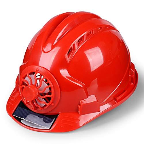 WD-Helmet Schutzhelm mit Ventilator Belüftete Baustelle Sonnenschutz Schutzhelm Atmungsaktiver Schutzhelm, Multi-Color-Auswahl (Color : Red)