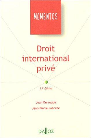 Droit international privé par Jean Deruppé