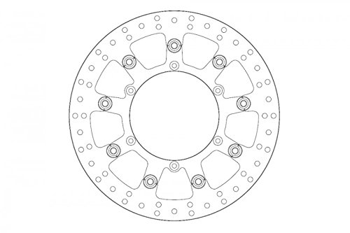 ebff811966602 Ferodo Disque de frein fmd0279rf (disques de frein moto)/brake disc  fmd0279rf flottant floating (Motorcycle dur)