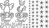 Autoaufkleber Sticker Aufkleber Set für Auto Schriftzug Engel Mo-Do Fr-So Teufe (932 graphit metallic)
