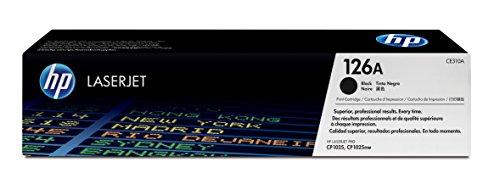 HP 126 - Cartucho de tóner Original HP 126A Negro para HP LaserJet Pro CP1025, 100 Color MFP M175a, 100 Color MFP M175nw, 200 Color MFP M275nw Topshot