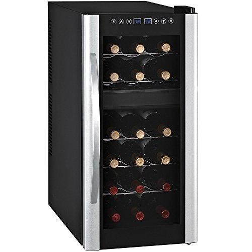 Syntrox Germany 18 Flaschen 2 Zonen Digitaler Getränkekühlschrank Weinkühlschrank