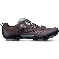 Fizik - Zapatillas de Ciclismo de Cuero para Hombre Marrón Marrón Oscuro Marrón Size: 43 EU