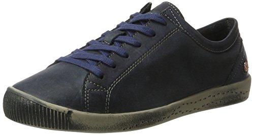 Softinos Damen Isla Washed Sneaker Blau (Navy)