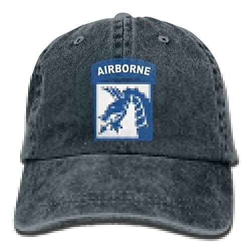 Zcfhike 18. Airborne Corps Dad Hat verstellbare Denim-Hut-Baseballmütze New15