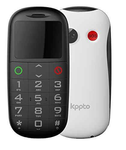 Foto de Kppto Panda P1 - Teléfono Móvil para Mayores- SOS Butón, Números y Letras Grandes, Fácil de Usar Celular para Ancianos- Celular Móvil libre (Pantalla de 1.8