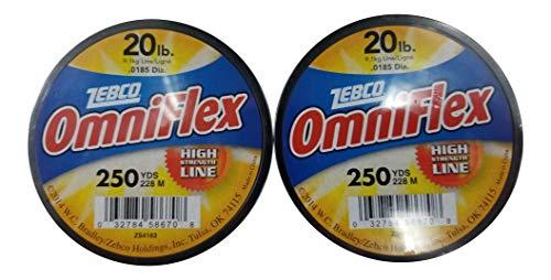 Generic Zebco Test Omniflex Monofile Angelschnur, hohe Festigkeit, 2 Stück