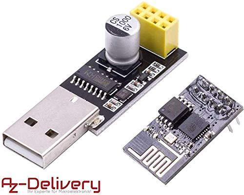 AZDelivery ESP8266-01S ESP-01 modulo Wifi adaptador