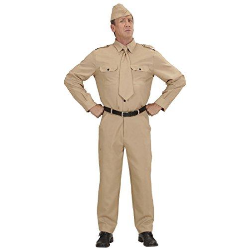 Amakando Militär Uniform Militäruniform Krieg L 52 Soldatenkostüm Weltkrieg Soldaten Kostüm Karnevalskostüm Herren Männerkostüm Soldat Soldatenuniform - Spielzeug Soldat Kostüm Hut