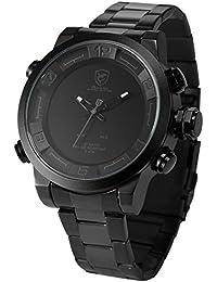 Shark SH364 Reloj Hombre de Cuarzo, Correa de Acero Inoxidable Negro