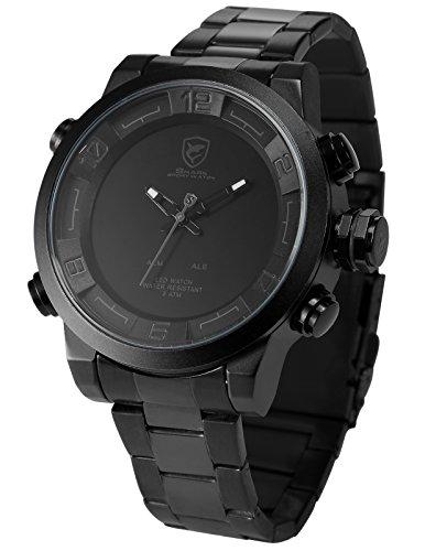 Shark-SH364-Reloj-Hombre-de-Cuarzo-Correa-de-Acero-Inoxidable-Negro