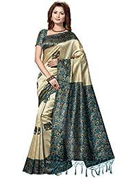 Rani Saahiba Art Mysore Silk Printed Saree - B07DMVQ622
