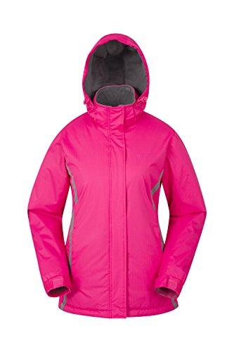 Mountain Warehouse Moon Damen-Skijacke - Schneedicht, Mikrofaser-Isolierung, Winddichte Winterjacke, warm, verstellbare Kapuze - Ski-Bekleidung für den Snowboard-Urlaub Rosa DE 42 (EU 44)