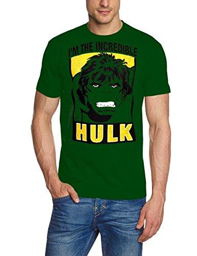 Coole-Fun-T-Shirts Herren T-Shirt Hulk - I Am The Incredible Original Marvel Comics, Grün, XXL, FT302 (Für Shirt Hulk Herren)