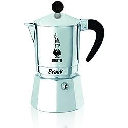 Bialetti Break - Cafetera Espresso de Aluminio para 6Tazas - Dimensiones 16x 11x 23cm