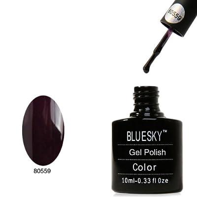 Bluesky UV LED Gel Soak Off Nail Polish, Dark Plum