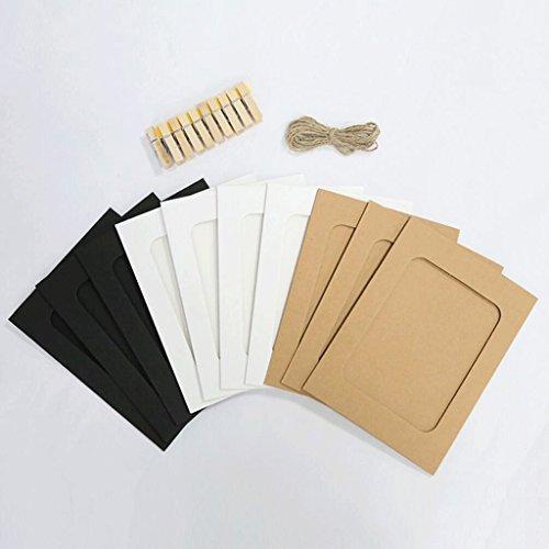 ZHAOJING Clip de papier Kraft Corde de chanvre Suspendue Photo Mur Couleur Carton Cadre photo Ornements Baby Chambre Chambre (Couleur : B)