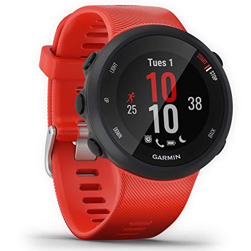 Garmin Forerunner 45 - GPS-Laufuhr mit umfangreichen Lauffunktionen, Trainingsplänen, Herzfrequenzmessung am Handgelenk, Smartphone Benachrichtigungen