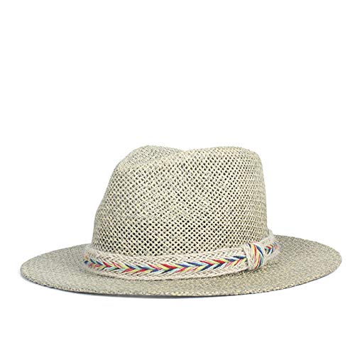 Zlhcich Gorra de gángster Sombreros de Playa para Hombre Verano Sombrero de Vaquero con Roll up Wide...