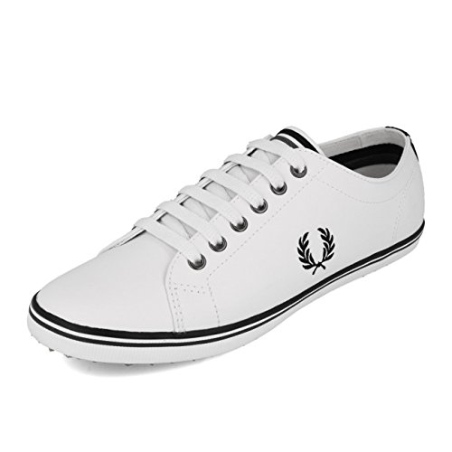 Fred Perry Kingston Leather White B6237UA38, Scarpe Sportive White