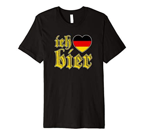 OKTOBERFEST I Love Beer Ich liebe Bier Vintage T Shirt