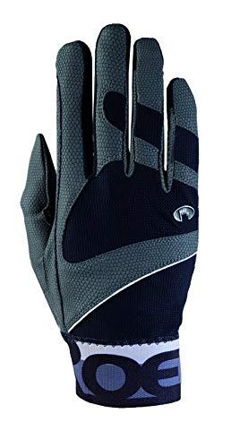 Roeckl Sports Handschuh -Milton, Unisex Reithandschuhe, Bund dehnbar, Dunkelgrau Größe 7